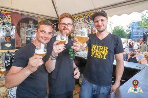 Das Team von Stand 11 (Stone Brewing Co. aus den USA, Heidenpeters aus Deutschland und Uiltje Brewing Co aus den Niederlanden)