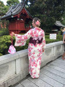 Kim in einem traditionellen Kimono (Foto: Privat)