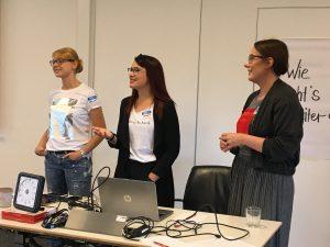 Melina Lohmann, Emily Zimmermann und Jaqueline Lüschen