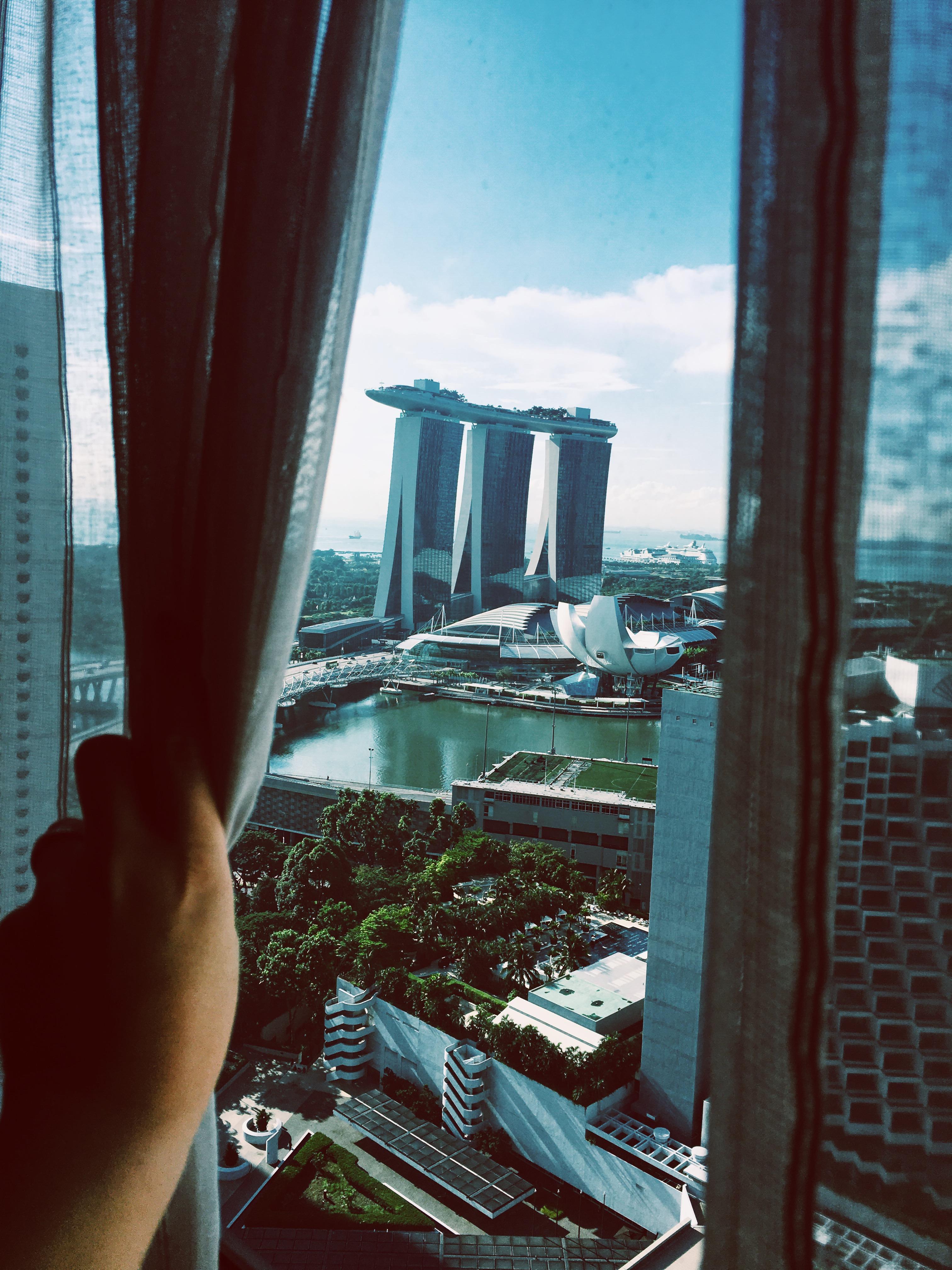 Blick auf das Marina Bay Sands-Hotel (Bild: Emily Zimmermann)
